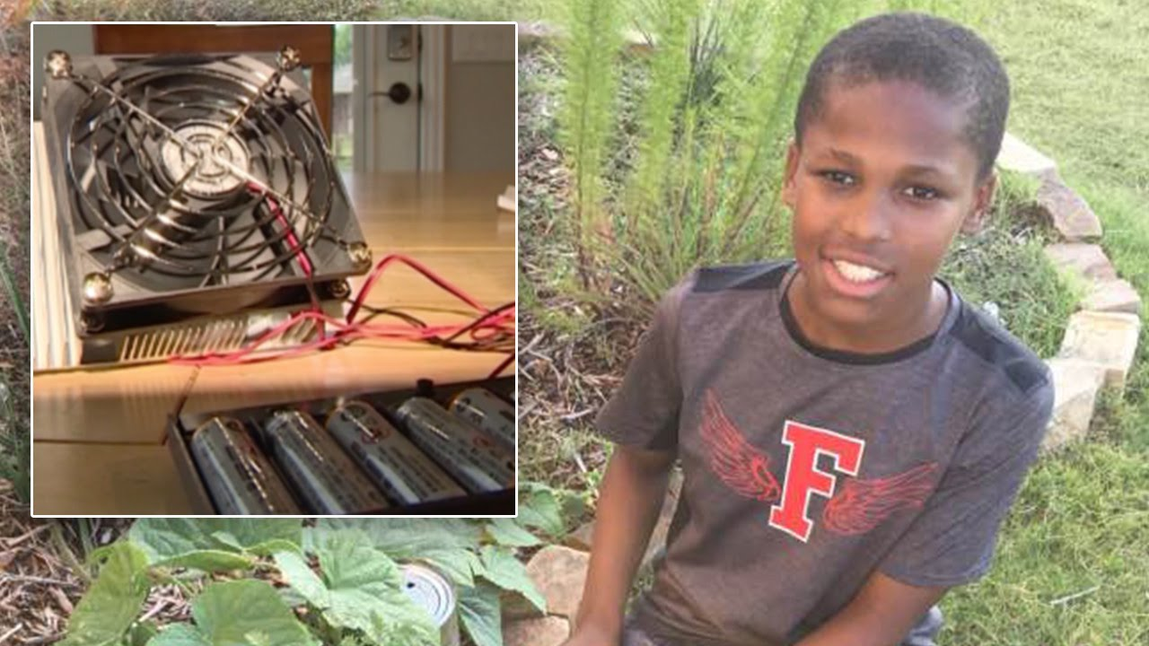 11 Year-Old Boy Invents Device To Prevent Hot Car Deaths. The Brilliance Of Black. Yep...