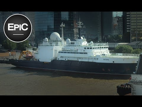 Russian Intelligence Ship Yantar / Янтарь (судно) - Russia (HD)