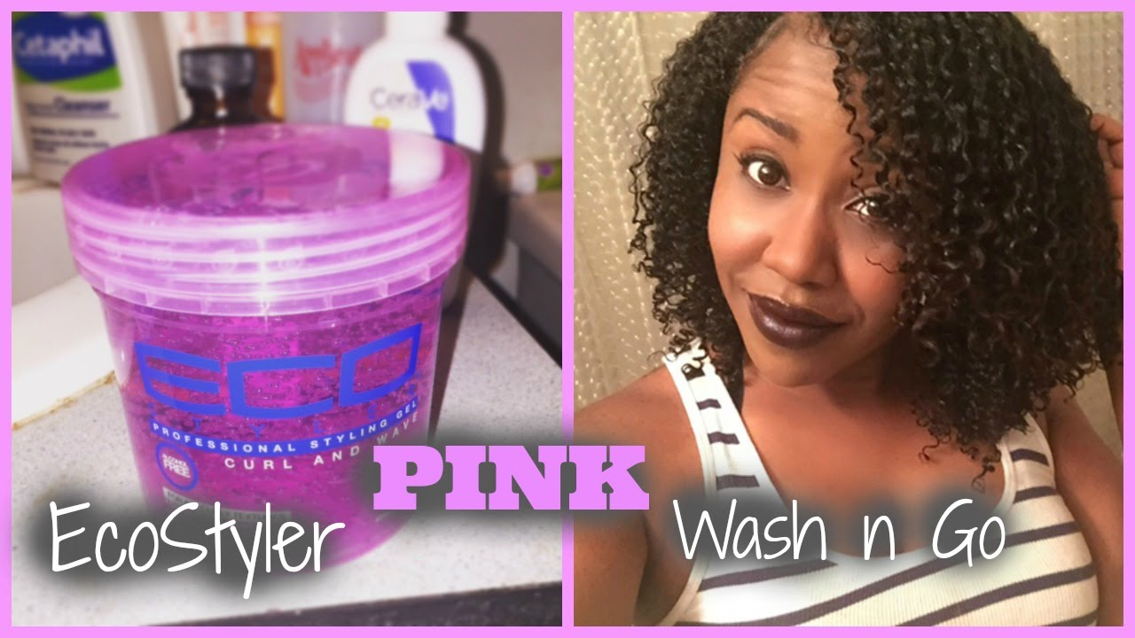 Ecostyler Gel Pink Wash And Go Tutorial Review Youtube