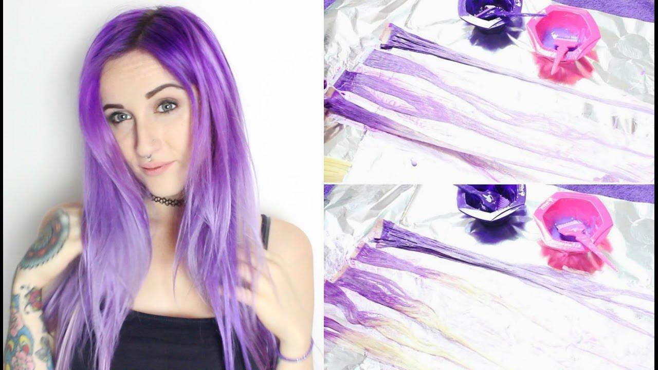 Dyeing Vpfashion Tape In Hair Extensions Purple Melt