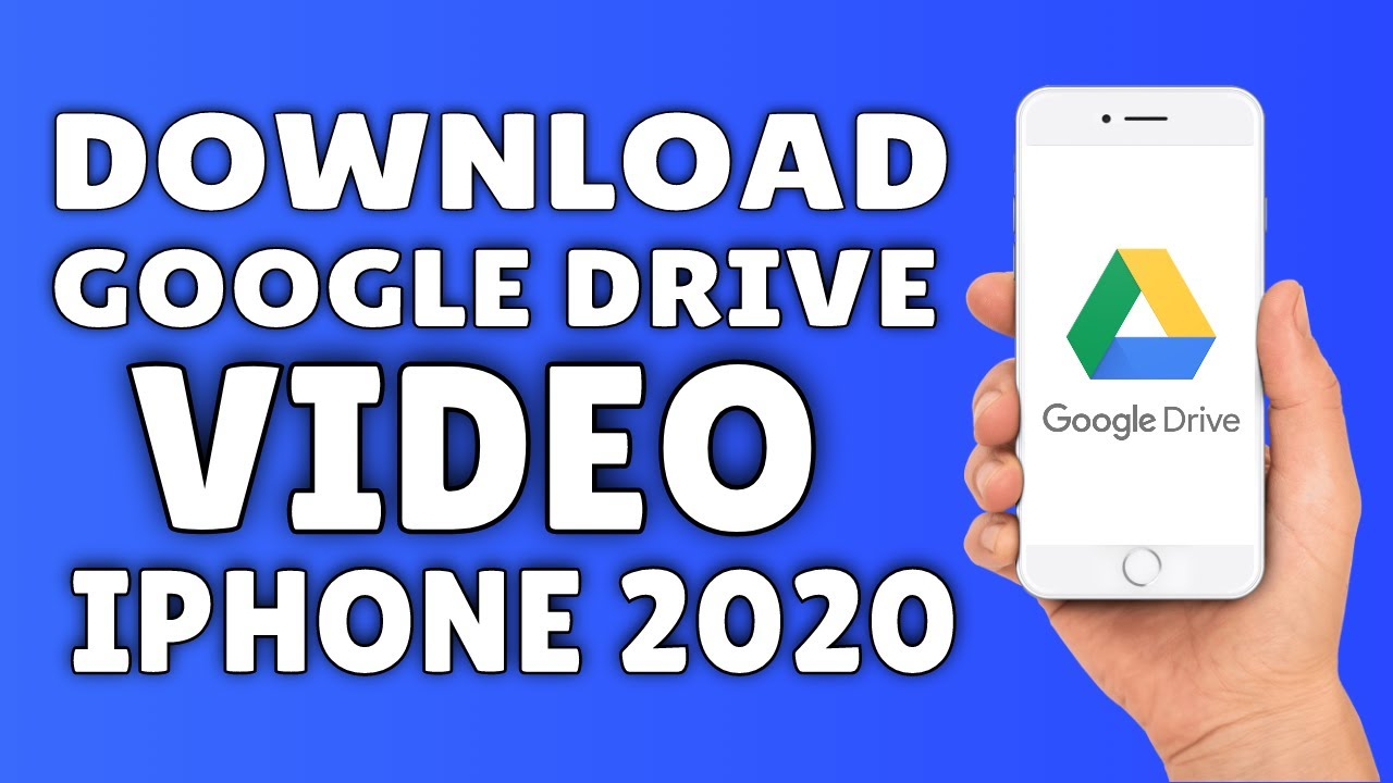 How To Download & Save Google Drive Videos On iPhone (9) ✅