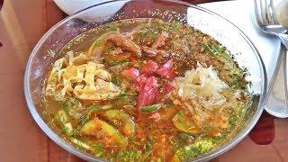Уличная еда Узбекистана Холодный Корейский суп Кукси!