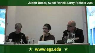 Avital Ronell, Judith Butler, Laurence Rickels: Arendt, Heidegger & The Role of Thinking 2009 1/15
