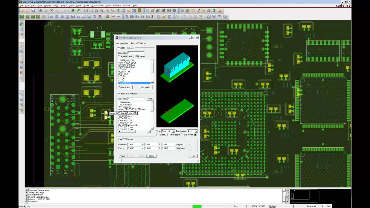 3D Step Modelle einbinden in OrCAD/Allegro PCB Editor - YouTube