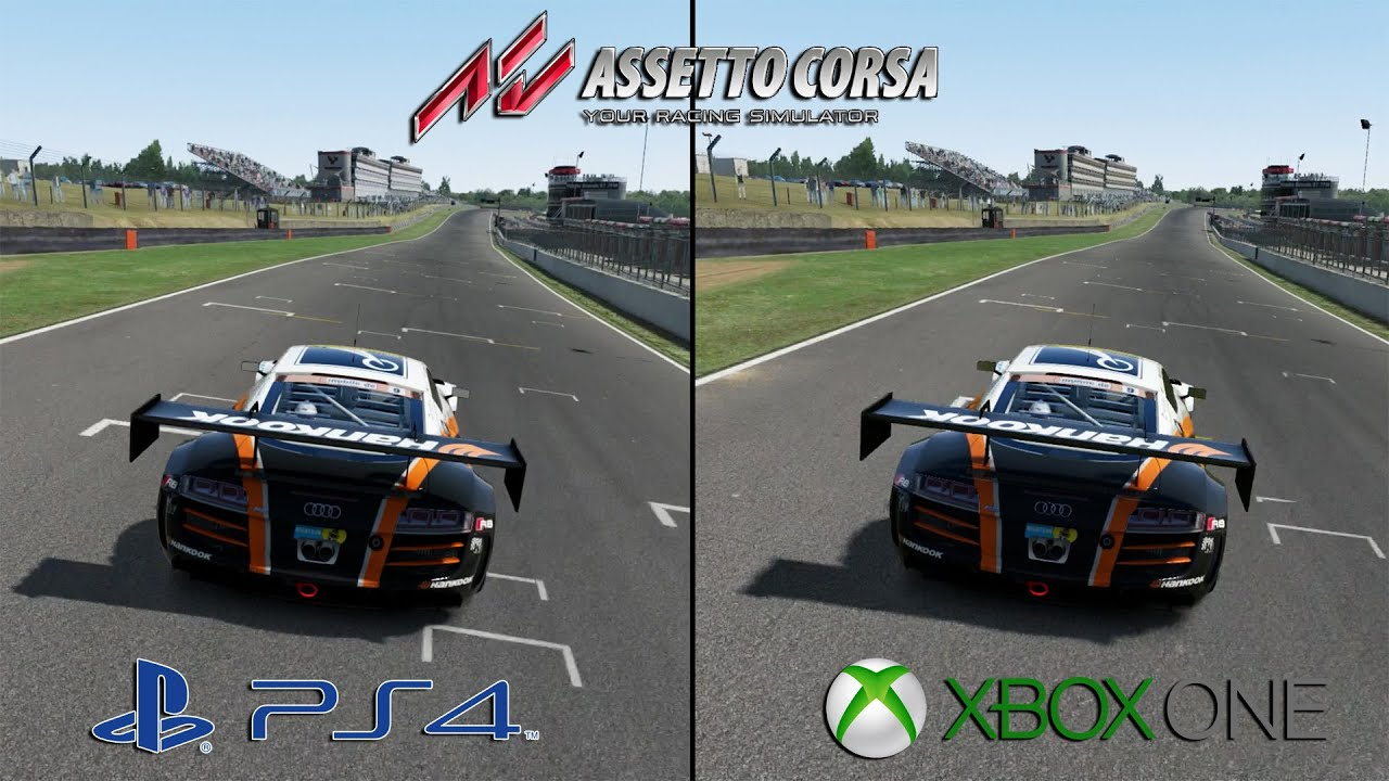assetto corsa ps4 vs xbox one audi r8 brands hatch graphics sounds youtube. Black Bedroom Furniture Sets. Home Design Ideas