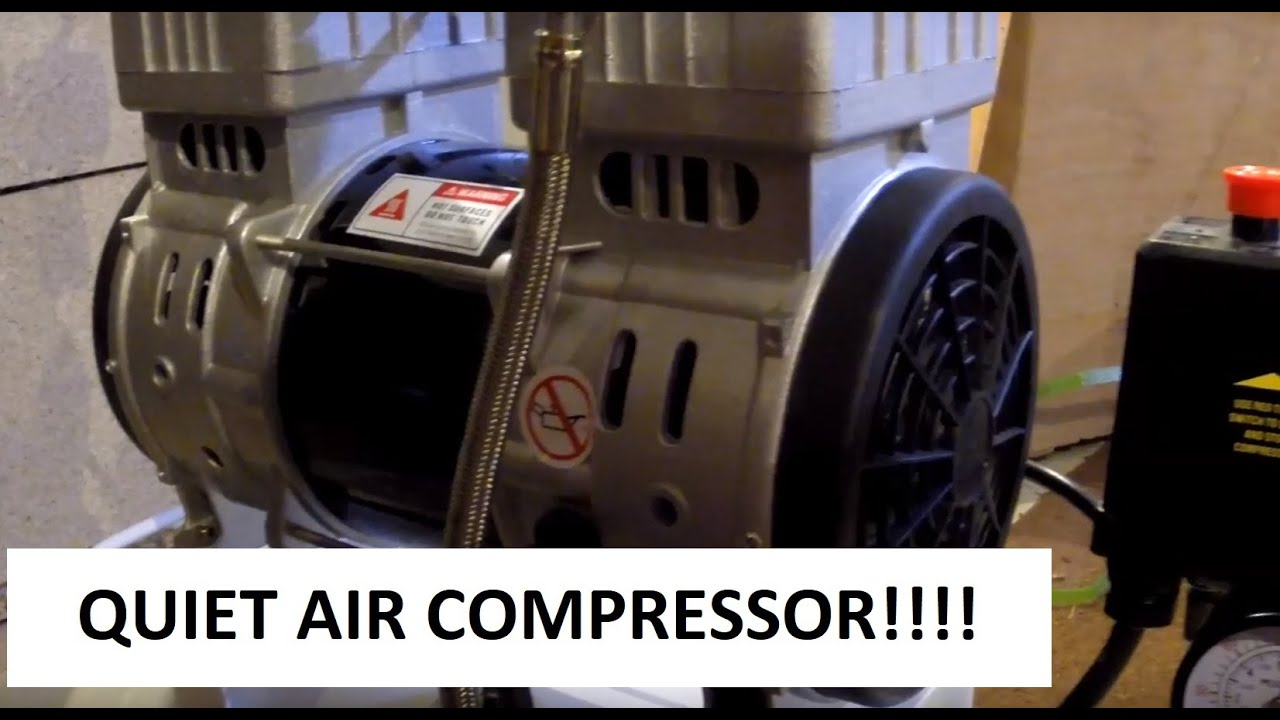 1100w 50L silent oil free air compressor unboxing and test