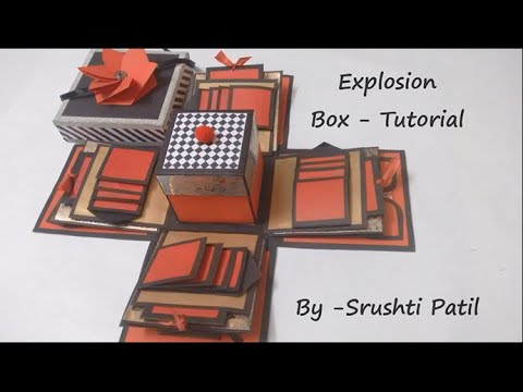 Explosion box - Tutorial | Theme - Valentine/ Black and red | by Srushti Patil & Explosion box - Tutorial | Theme - Valentine/ Black and red | by ... Aboutintivar.Com