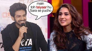 Kartik Aryan Blushes When Asked About Dating Sara Ali Khan