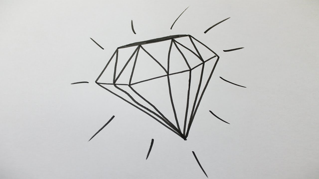 Comment dessiner un diamant youtube - Image de dessin a dessiner ...