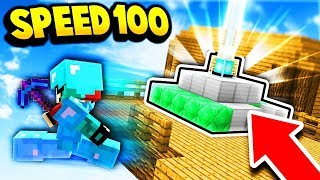 SPEED 100 BEACON TROLL!! (Minecraft Skyblock Trolling)