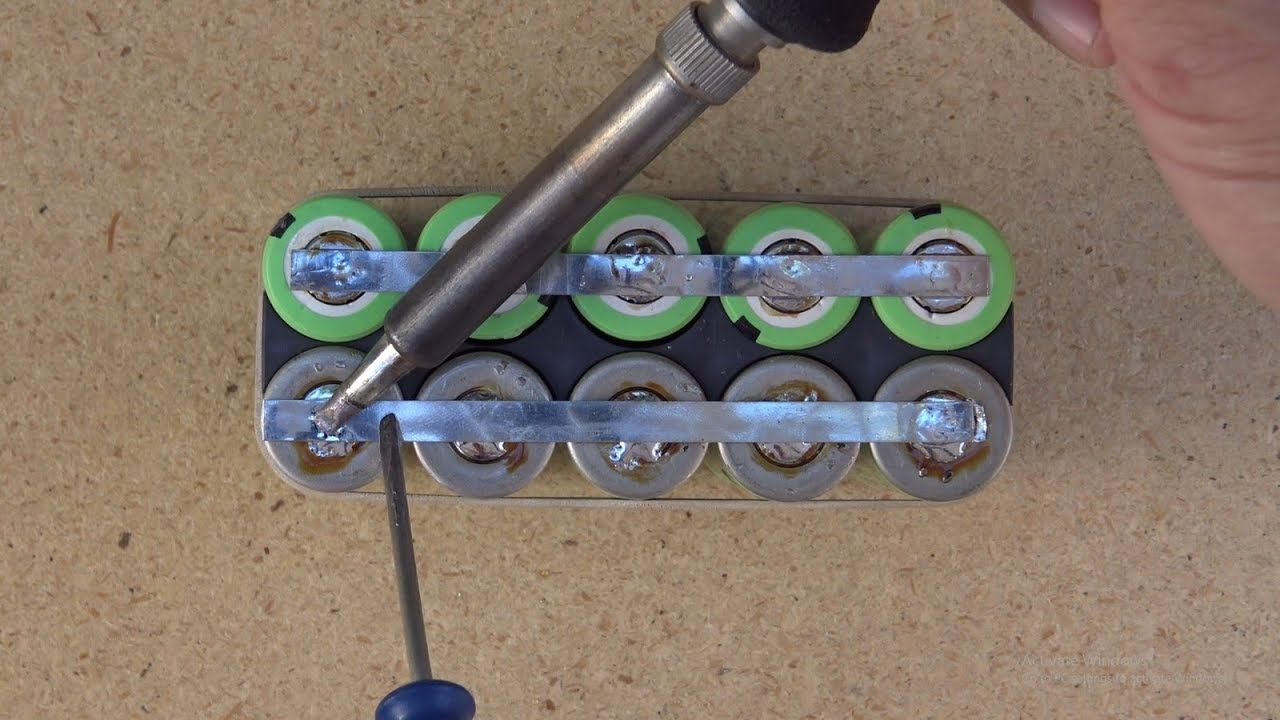 How To Solder 18650 Li Ion Batteries To Make A Custom Made