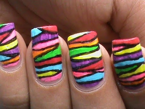 Colorful Nail Art Designs : For Long & Short Nails! - Colorful Nail Art Designs : For Long & Short Nails! - YouTube