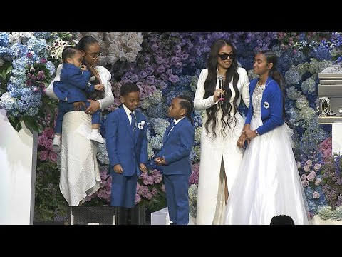 Lauren London and Kids Take Stage at Nipsey Hussle's Memorial
