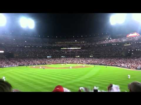 Cardinals Win Game 4 of 2011 NLDS. Final Out