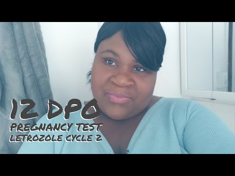 LIVE PREGNANCY TEST (12 DPO)|| AM I PREGNANT?|| LETROZOLE CYCLE 2