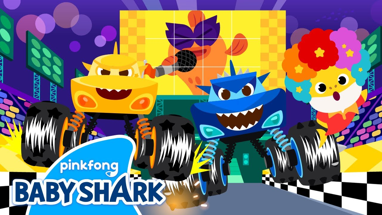 Welcome to the Baby Shark's Truck Race! | +Compilation | Baby Shark Medley | Baby Shark Official