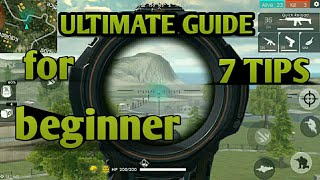 7 TIPS:beginner GUIDE to free fire battleground | android pubg