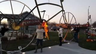 Let's Connect Big Bike ribbon cutting