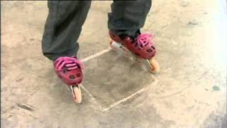 Video tutorial on how to spin on inline skates or rollerblades.