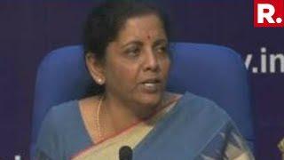 Watch Finance Minister Nirmala Sitharaman Addresses Media On The Economy In New Delhi