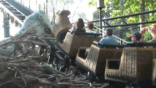 Flight of the Hippogriff ride POV with Hippogriff animatronic at the Wizarding World of Harry Potter