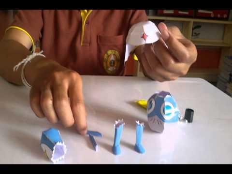 """การพับโมเดลกระดาษ(Paper Model)@Aof """"Keroro Gunso """""""
