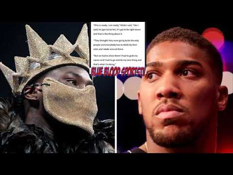 BREAKING NEWS: DEONTAY WILDER SAY'S ANTHONY JOSHUA NEXT SHOULD HE BEAT FURY IN REMATCH !