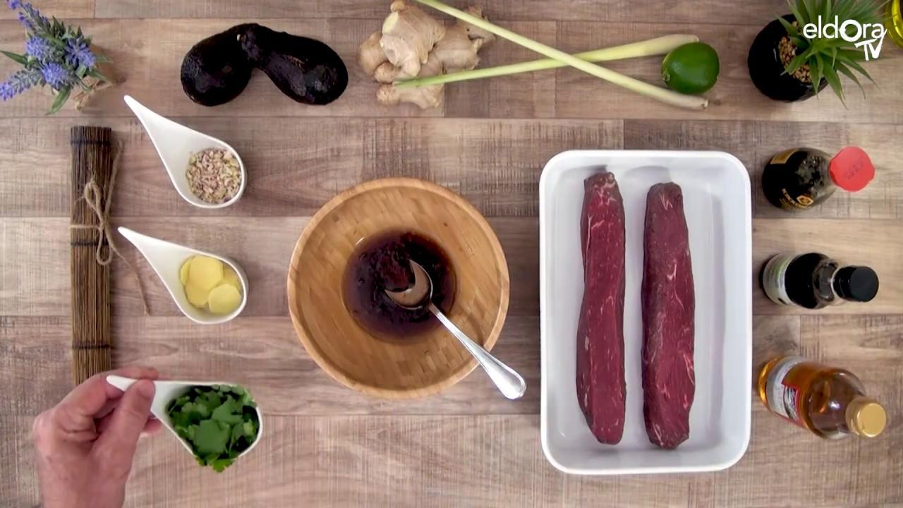 Tataki de bœuf et mousseline de bœuf au wasabi