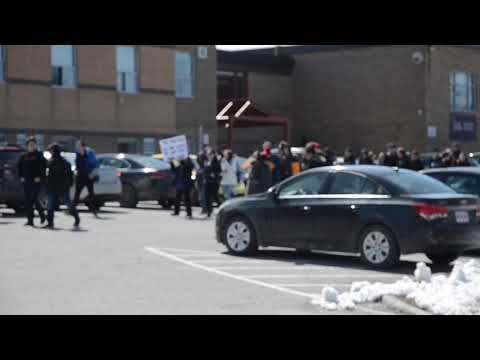 Demonstration at Brock High School