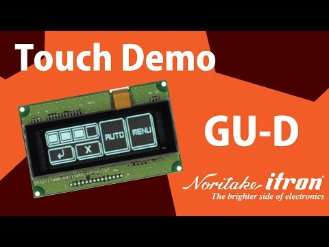 Noritake VFD: Capacitive Touch Module - GU140X32F-D903S