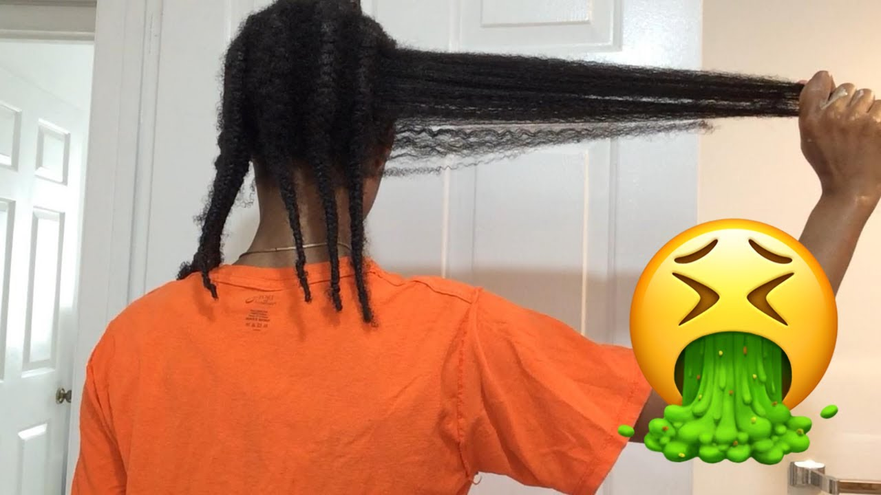 4 Month Old Braids Takedown & Detangle After Using Aloe Vera Leave In Conditioner