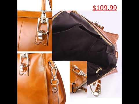 Yafeige Womens//Ladys Handbag Vintage Luxury Wax Genuine Leather Tote Shoulder Bag Satchel Purse