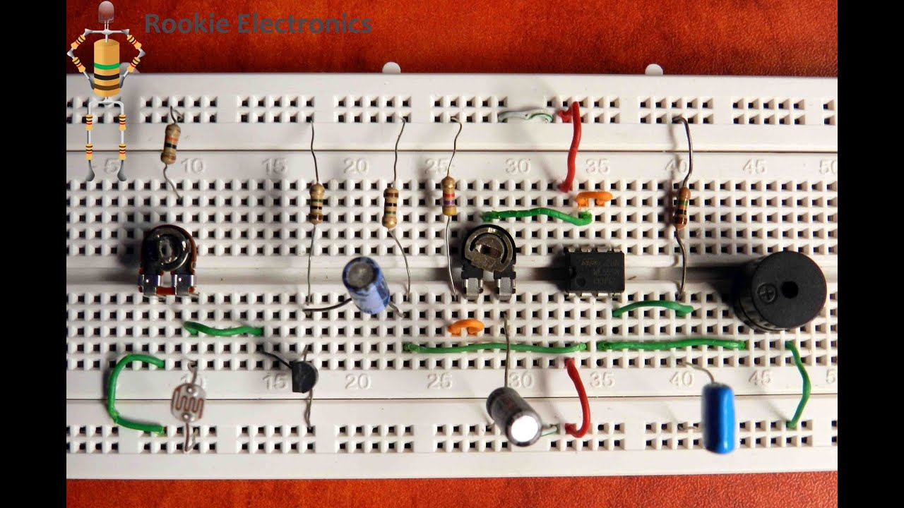 Shadow Detector Alarm Using 555 Timer Youtube Ne555 Ic Remote Control Light Circuit Diagram