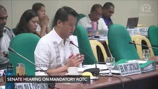 Senate hearing on mandatory ROTC