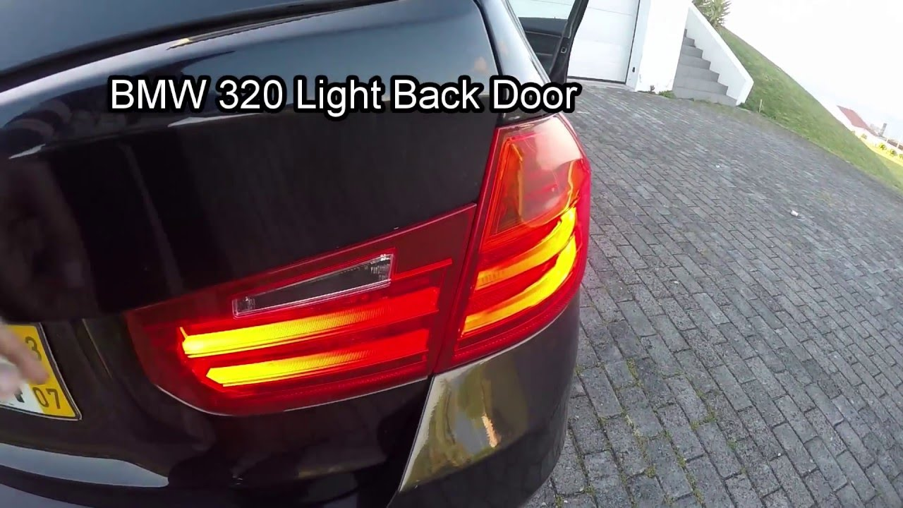 rear light in trunk lid replacement bmw 320 f30 f31 youtube. Black Bedroom Furniture Sets. Home Design Ideas