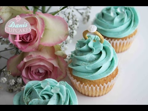 Tiffany Wedding Diamond Ring Cupcakes | Danis Cupcakes