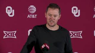 OU Football - Lincoln Riley talks spring football