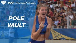 Alysha Newman sets a Canadian pole vault record in Paris - IAAF Diamond League 2019
