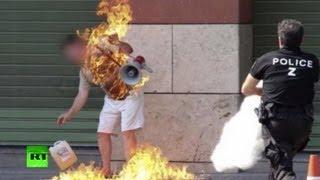 Самосожжение у центра занятости во Франции
