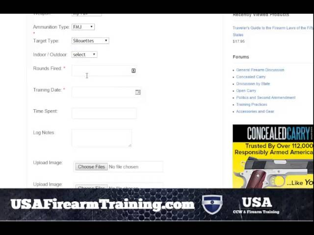 Free Tool to Log Your Firearms and Your Firearm Training
