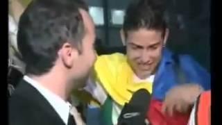 Periodista Argentino le dice a James Rodriguez Usted es la verga!