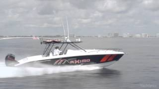 Midnight Express 37' Cabin Powered by Quad 300 Mercury Marine Joystick Motors