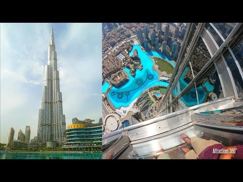 [4K] Tallest Building In The World - At The Top Of Burj Khalifa Tour