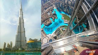 [4k] Tallest Building In The World   At The Top Of Burj Khalifa Tour