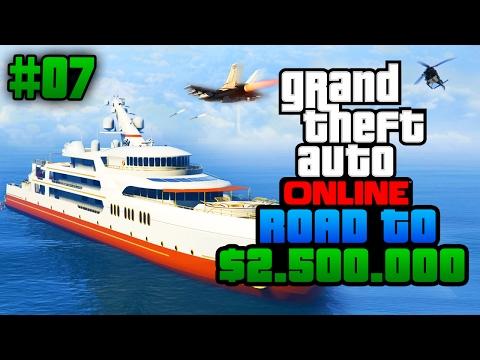 MIJN YACHT VERDEDIGEN! - GTA5 Road To $2.500.000 #7 (GTA 5 Online)