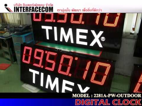 INTERFACECOM : SPORT CLOCK TIMER : MODEL 2281A-PW ( OUTDOOR )