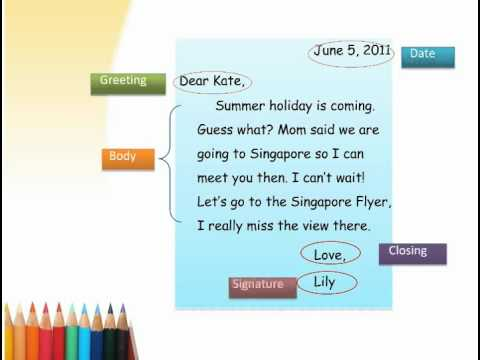 Friendly Letter - Youtube