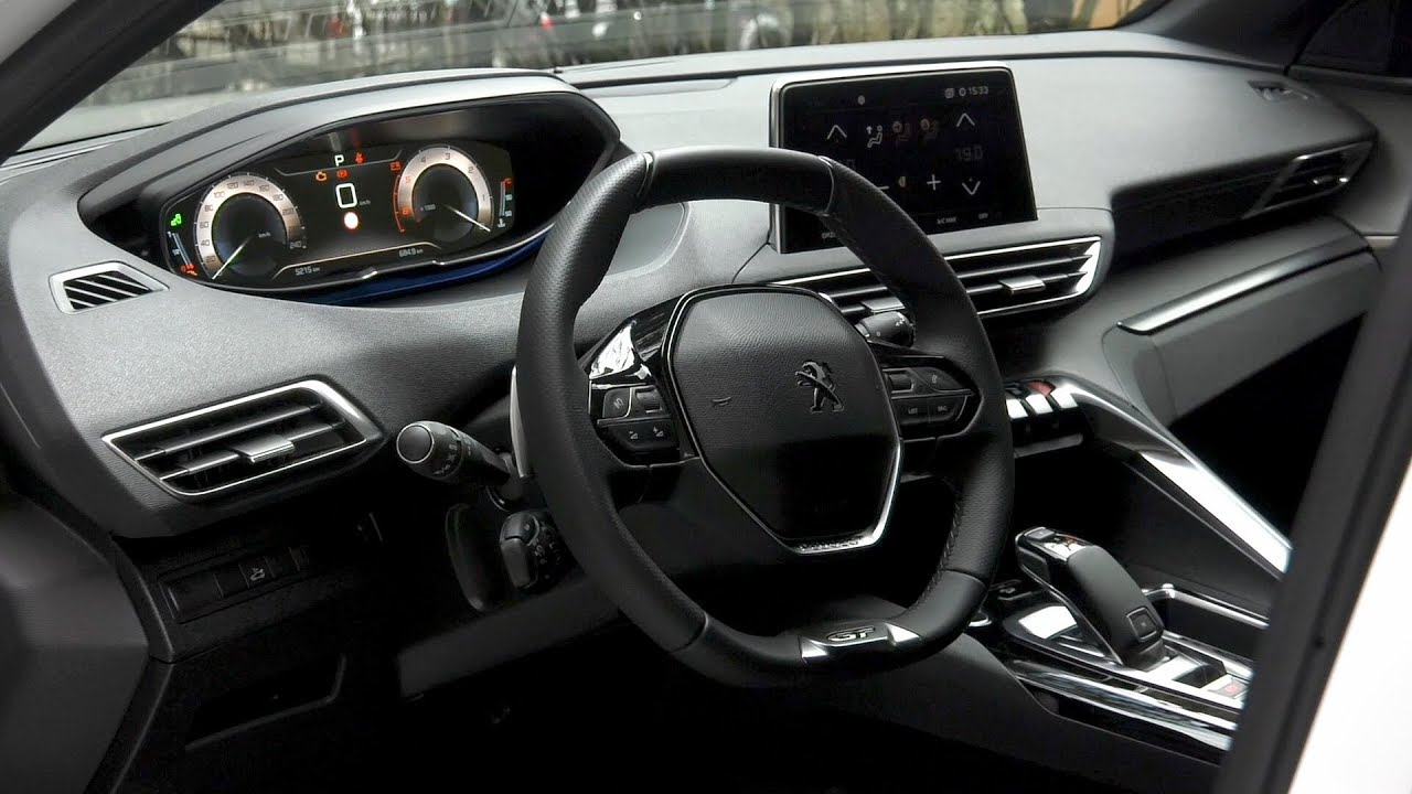 2018 peugeot 5008 gt interior youtube. Black Bedroom Furniture Sets. Home Design Ideas