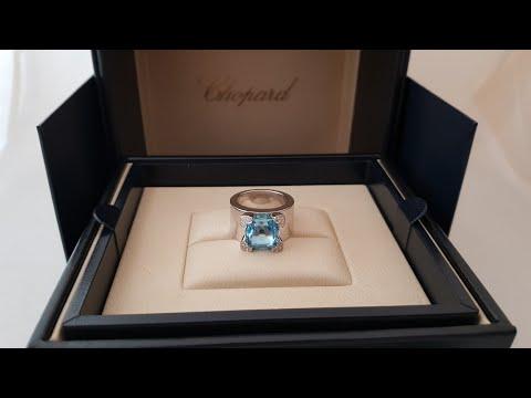 Обзор кольца Chopard Rainbow Ref 82/3832/7 белое золото, топаз и белые бриллианты!