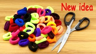 DIY HOME DECO | Hair rubber bands craft idea | DIY art and craft